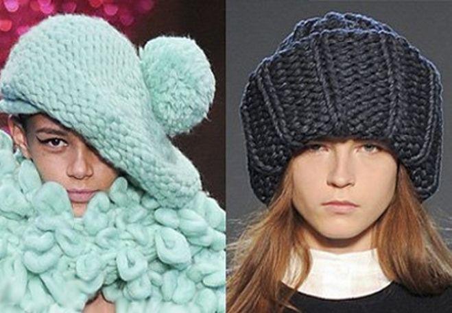 czapki z dzianiny 2016-2017 - trendy 1