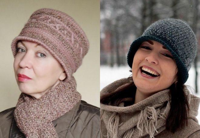 czapki z dzianiny 2016-2017 - trendy 15-16