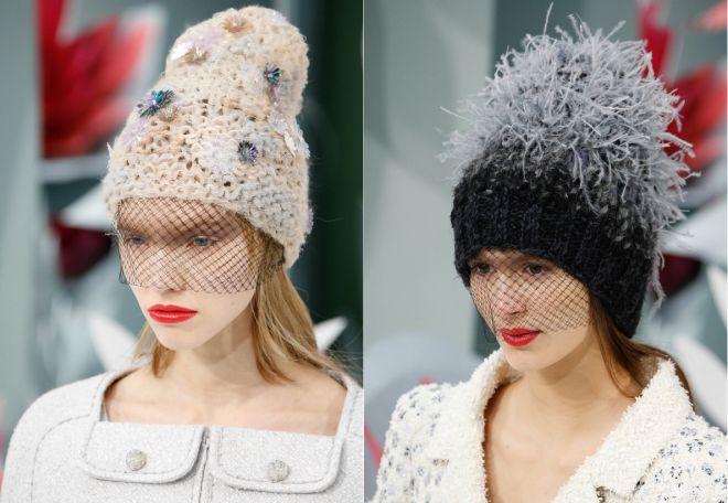 czapki z dzianiny 2016-2017 - trendy 21-22