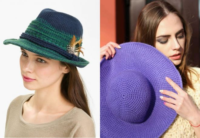 czapki z dzianiny 2016-2017 - trendy 37-38