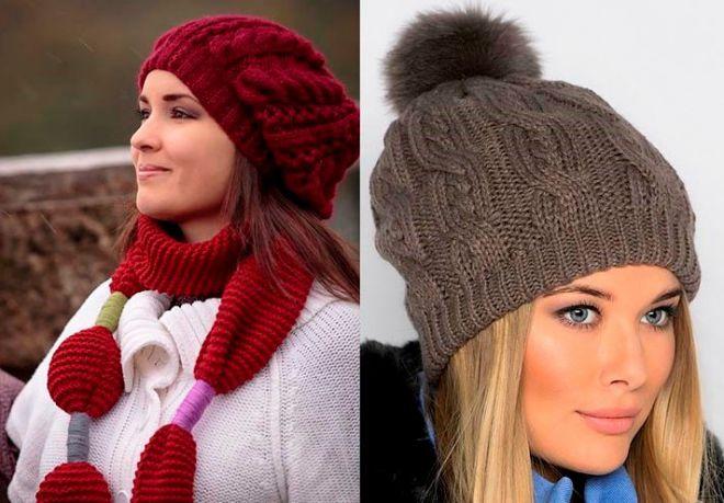 czapki z dzianiny 2016-2017 - trendy 2