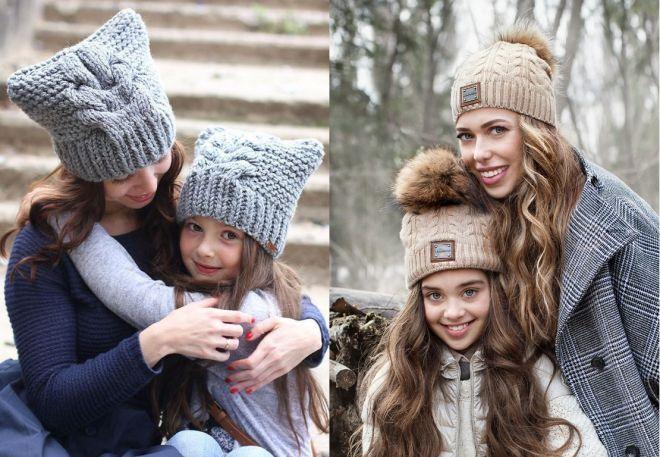 czapki z dzianiny 2016-2017 - trendy 29-30