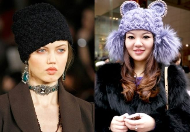 czapki z dzianiny 2016-2017 - trendy 3