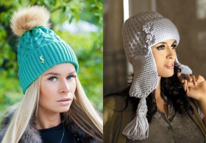 czapki z dzianiny 2016-2017 - trendy 11-12
