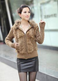 Pletena jakna s krznom 1