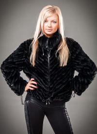 Pletena jakna s krznom 3