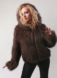 Pletena jakna s krznom 5