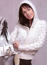 Pletena jakna s kapuljačom 1