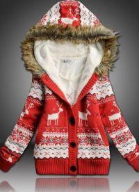 Pleteni kapuljačni jakni 2