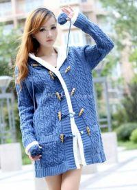 Pleteni kapuljačni jakni 5