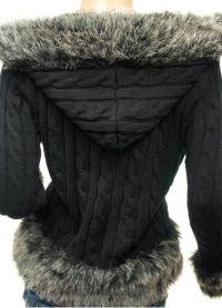 Pleteni kapuljačni jakni 9
