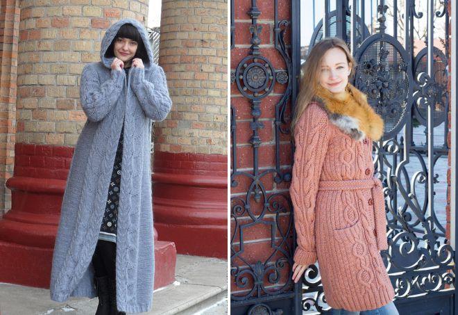 зимние вязаные вещи для женщин