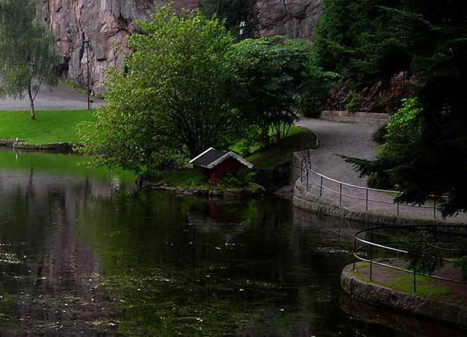 В парке Равнедален