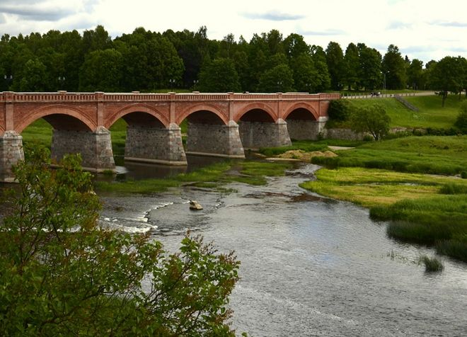 Река Вента - природная достопримечательность Кулдиги