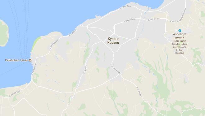 Город Купанг на карте