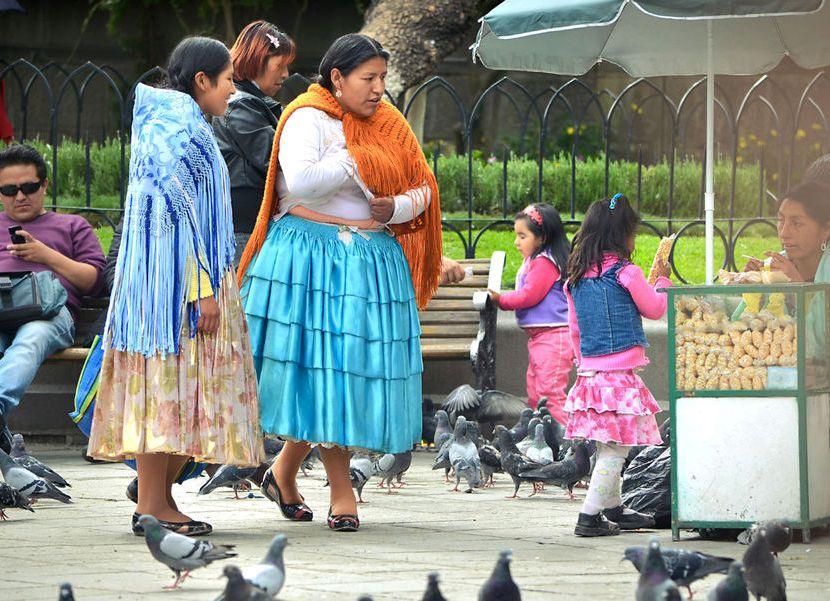 Жители Ла-Паса