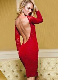 Krajka šaty s otevřenou zádou 8