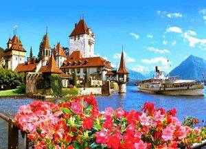 Замок на берегу озера, Шпиц