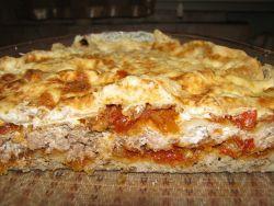 lavash lasagna z mięsem mielonym