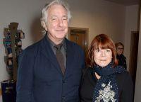 Алан Рикман с женой Римой Хортон