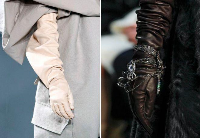 dugih kožnih rukavica