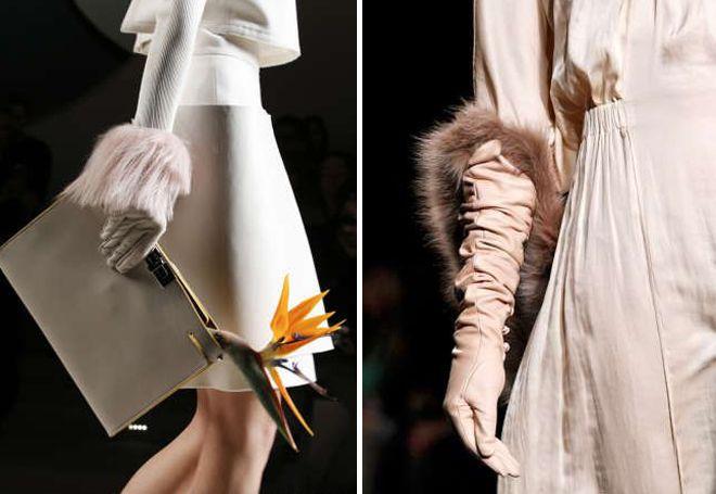 kožne ženske rukavice na krznu