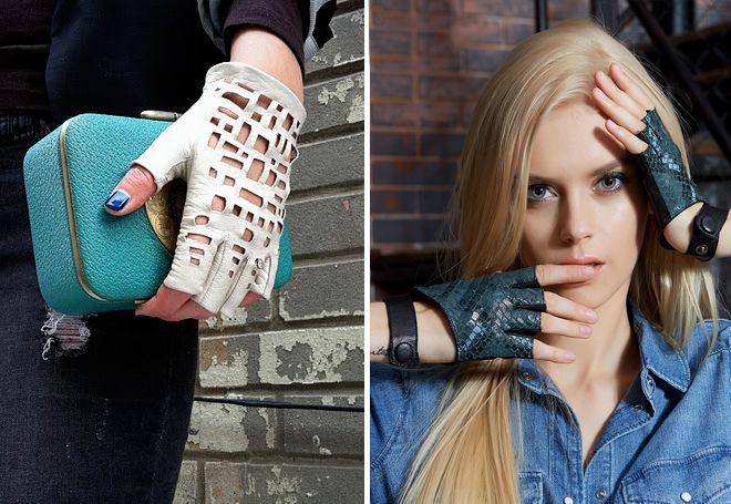 ženske kožne rukavice bez prstiju
