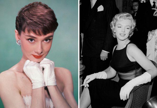 ženske bijele kožne rukavice