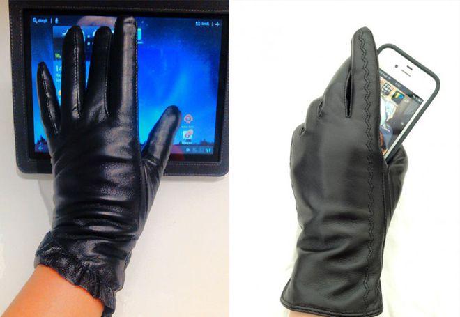 osjetljive kožne rukavice
