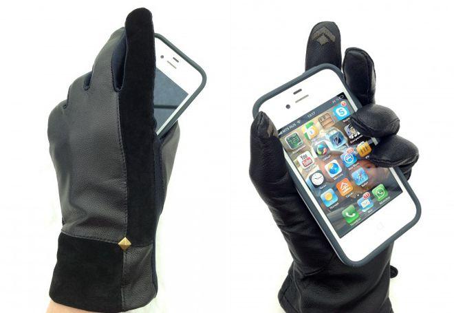 kožne rukavice za zaslon osjetljiv na dodir