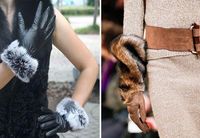 kožne rukavice na krznu