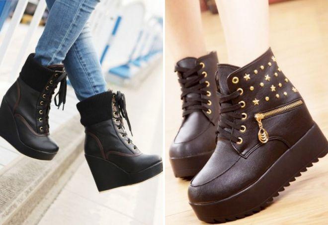 ženske visoke kožne cipele