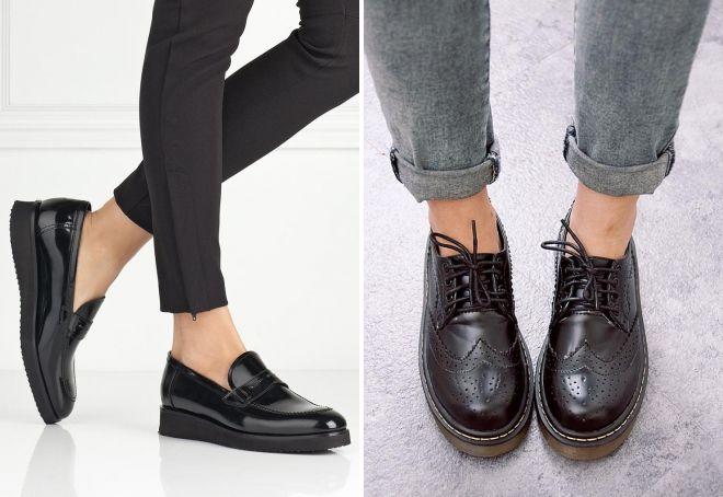 ženske crne kožne cipele