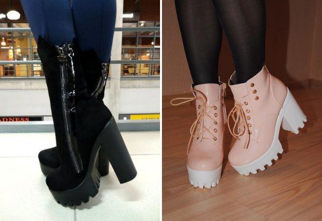 ženske kožne platformske cipele