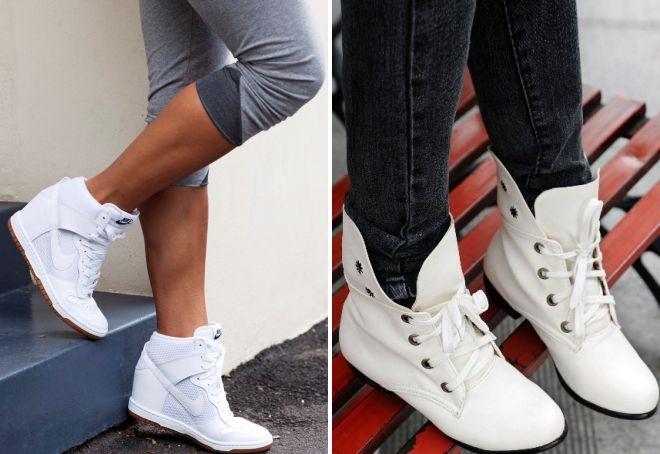 bijele kožne cipele