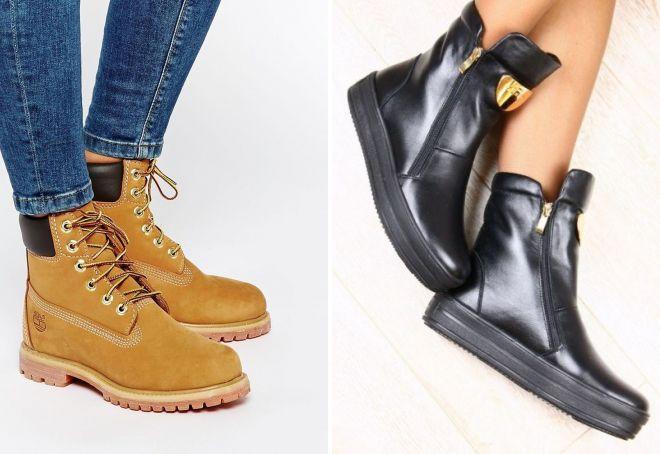 ženske zimske kožne cipele