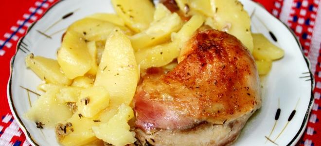 пилешки крак с картофи на ръкава