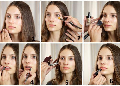 schemat makijażu
