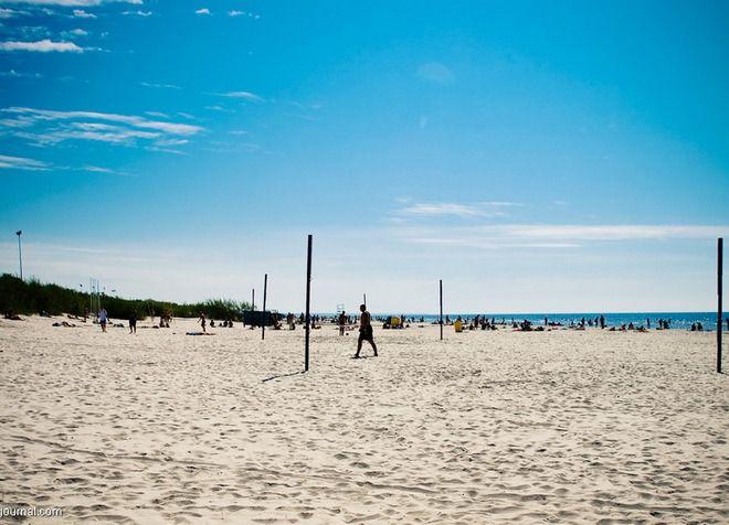 Пляж в Лиепае