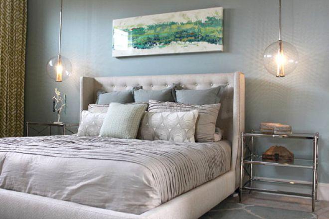 освещение кровати в спальне