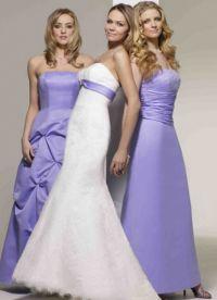 suknia ślubna z liliową wstążką 4