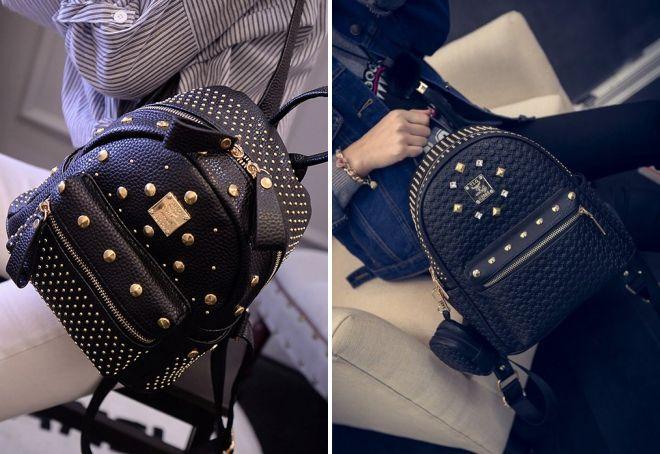 маленькие кожаные рюкзаки для девушек