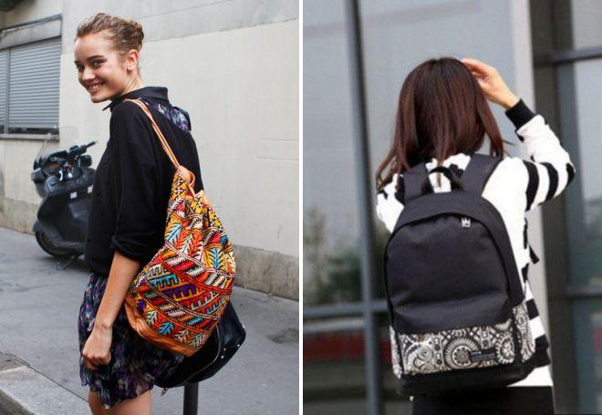 маленький рюкзак с орнаментом