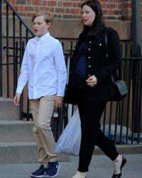 Тайлер со своим старшим сыном Майло