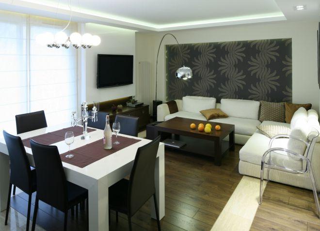 Гостиная и столовая в одной комнате
