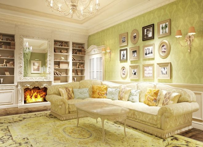 Гостиная комната в стиле прованс