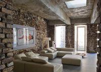 Pokój dzienny w stylu loftu1