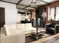 Pokój dzienny w stylu loftu3