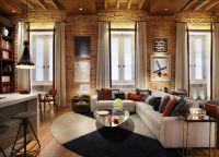Pokój dzienny w stylu loftu4
