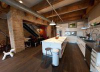 Kuchnia w stylu salonu na poddaszu 3